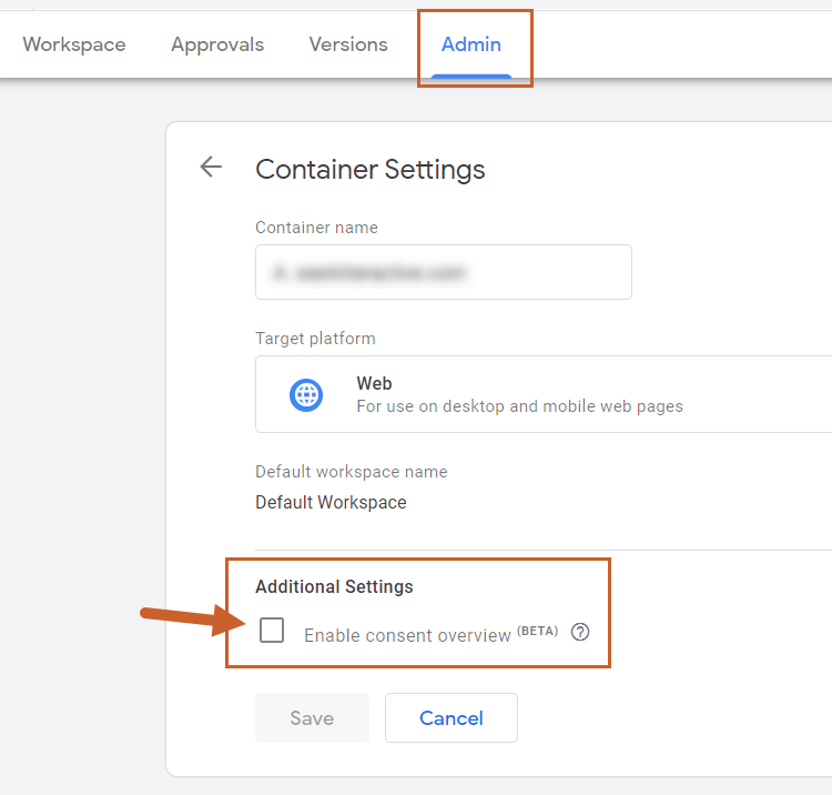 google tag manager consent overview